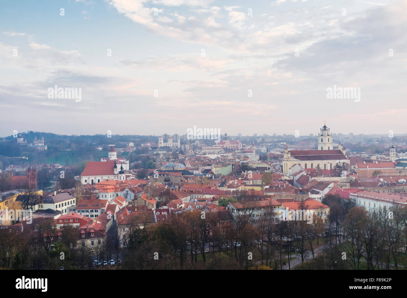 Old town overview.  Vilnius, Lithuania, Europe - Stock Image