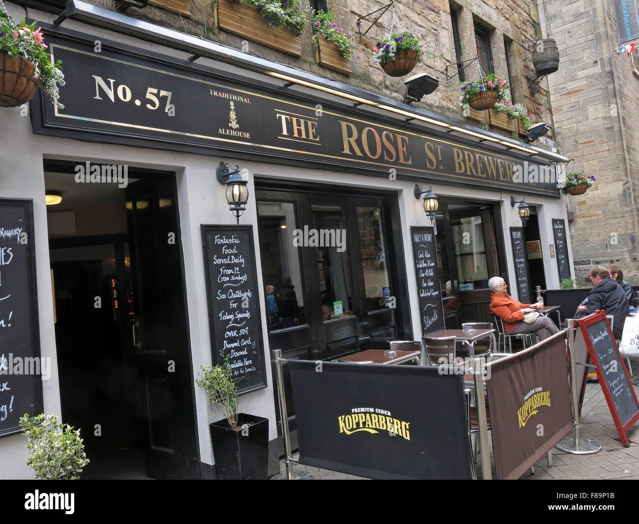 Rose St Brewery No 57,Pub Rose St,Edinburgh City Centre,Scotland,UK - Stock Image
