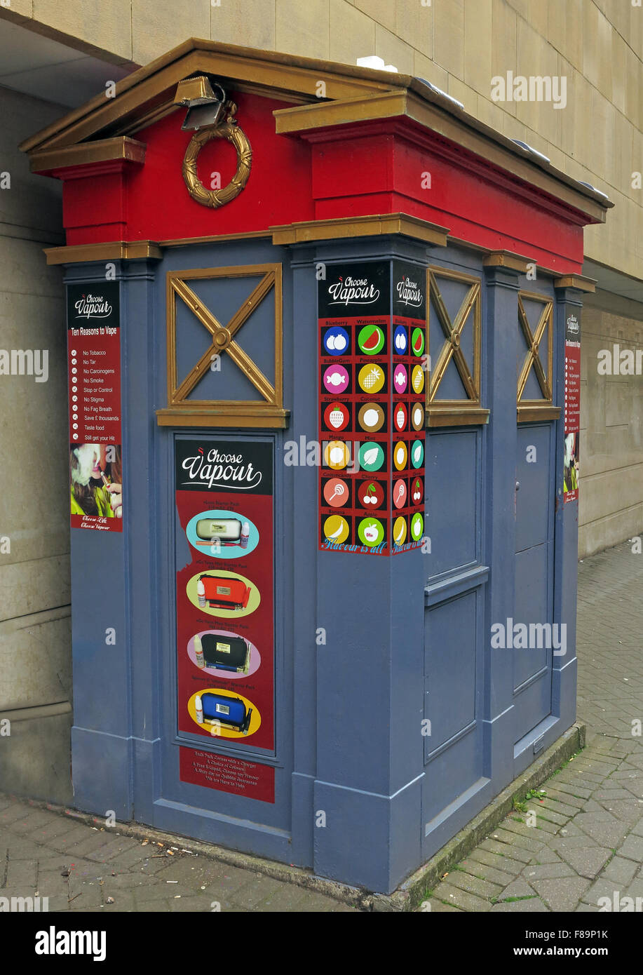 Edinburgh policebox now a Vaping shop,Edinburgh,Scotland,UK - Stock Image