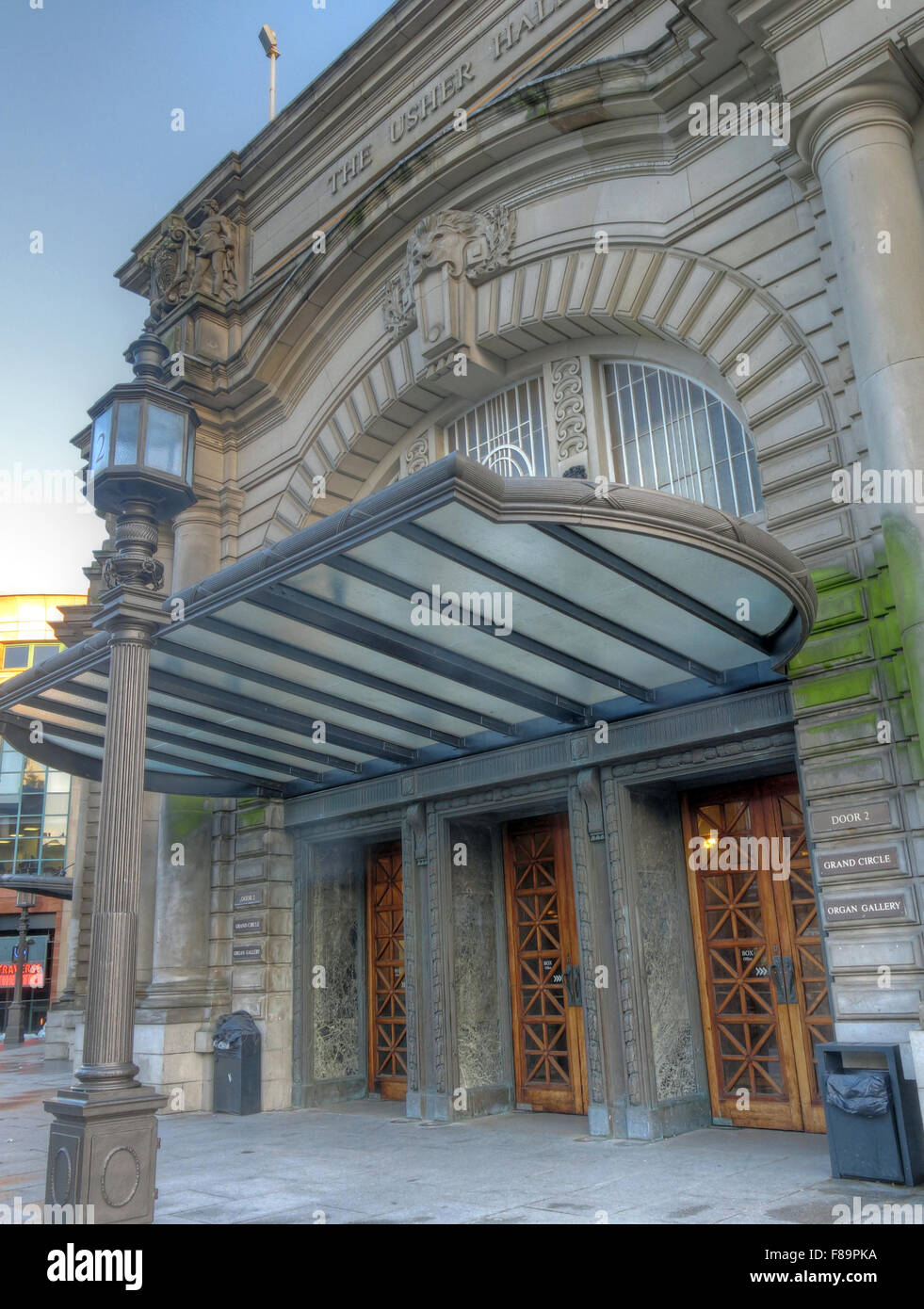 Usher Hall side view, Lothian Road, Edinburgh,Scotland, UK - Stock Image