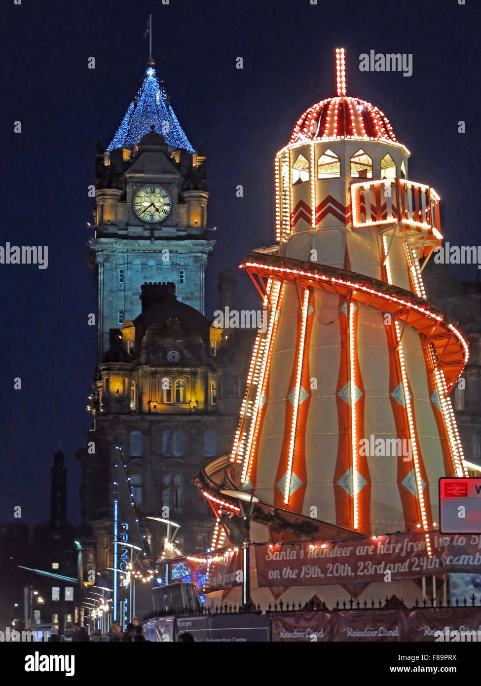 Edinburgh Christmas Lights, Princes St,City Centre, Scotland, UK - Stock Image