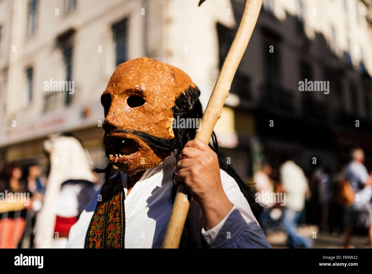 International Festival Iberian Mask, Lisbon, Portugal - Stock Image