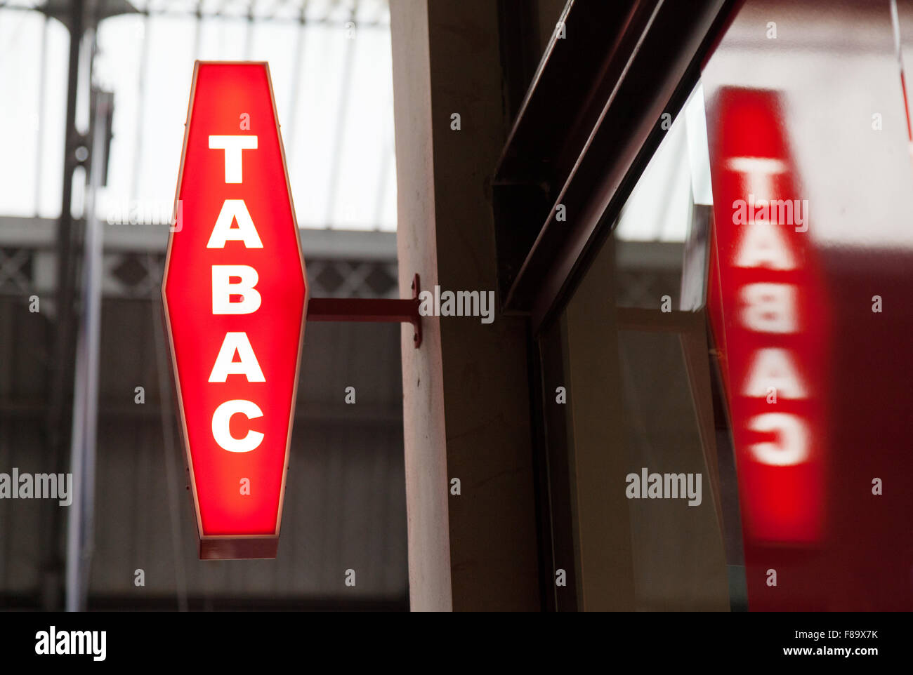 Bureau de Tabac shop sign,  Paris France Europe - Stock Image