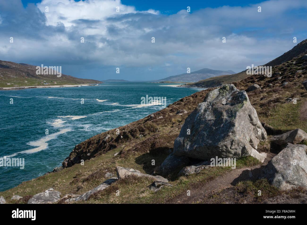 The Coastal path to Cravadale Isle of Harris - Stock Image