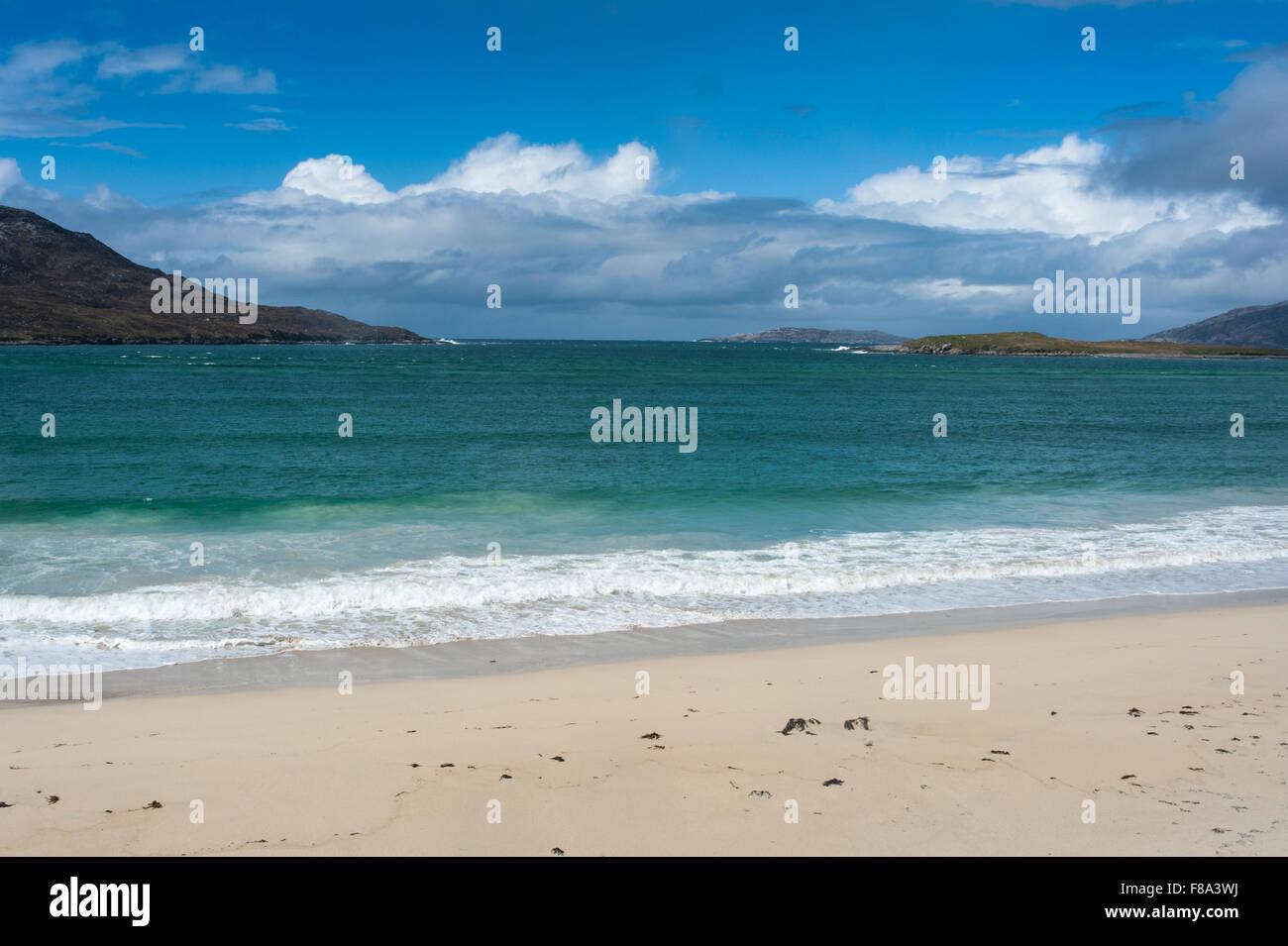 Traigh Mheilen on the west coast of Harris - Stock Image