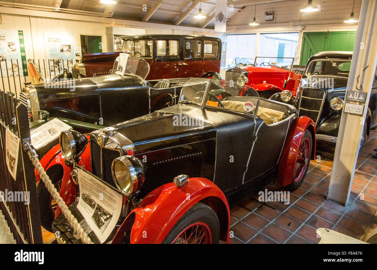 Classic Cars In The Brooklands Museum Weybridge London UK - Stock Image