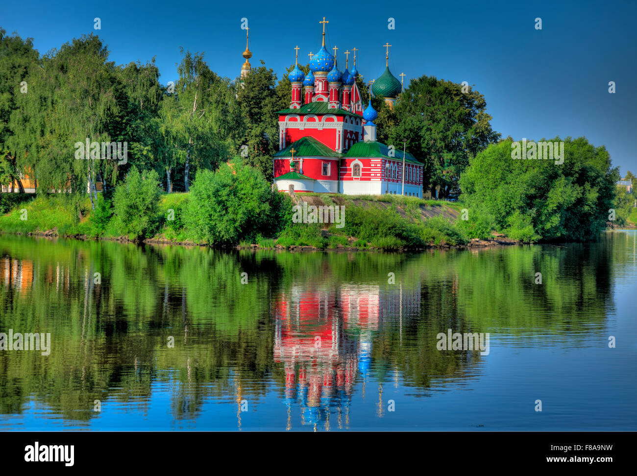 Church of Saint Dmitry on the Blood, Uglich, Russian Federation, Volga River, Built 1692 - Stock Image