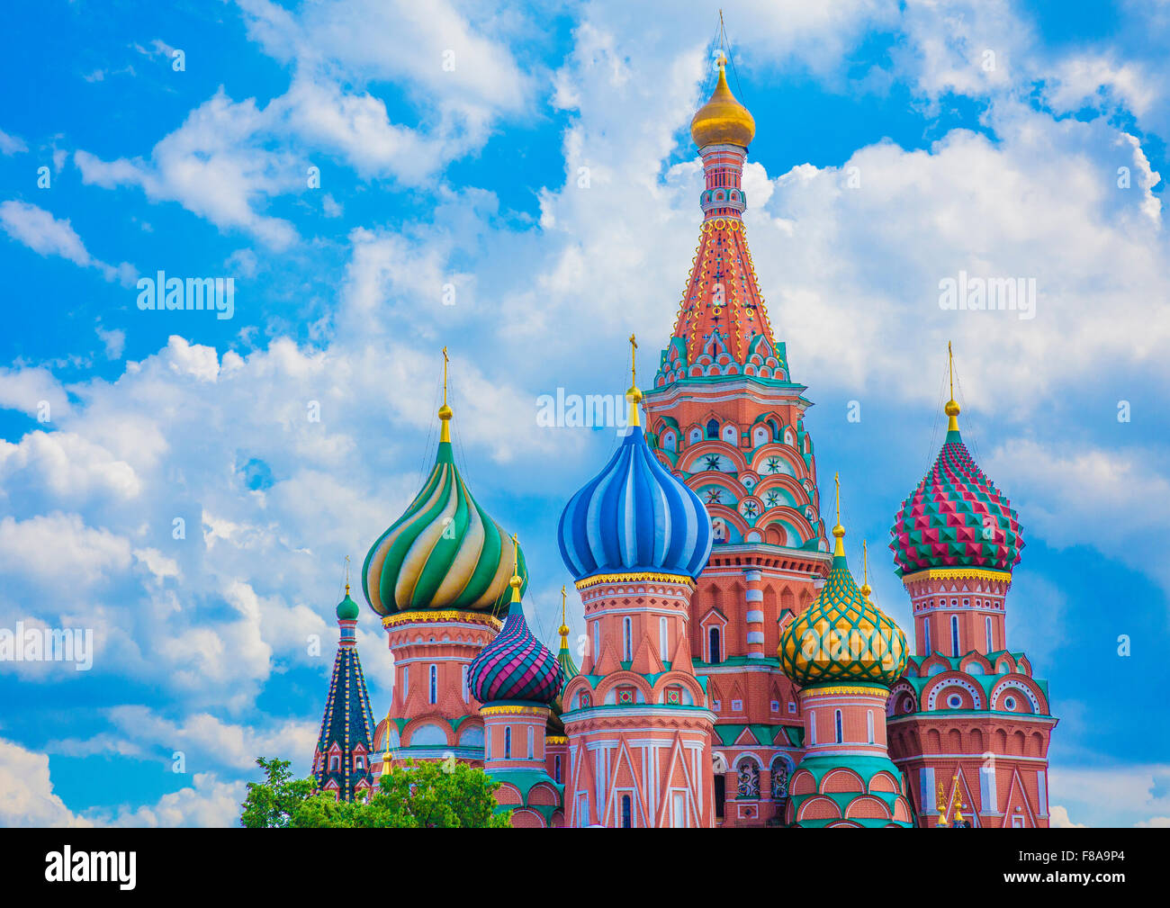 St. Basil's Cathedral. Moscow, Russia Federation, Red Square, Built 1554-61 - Stock Image