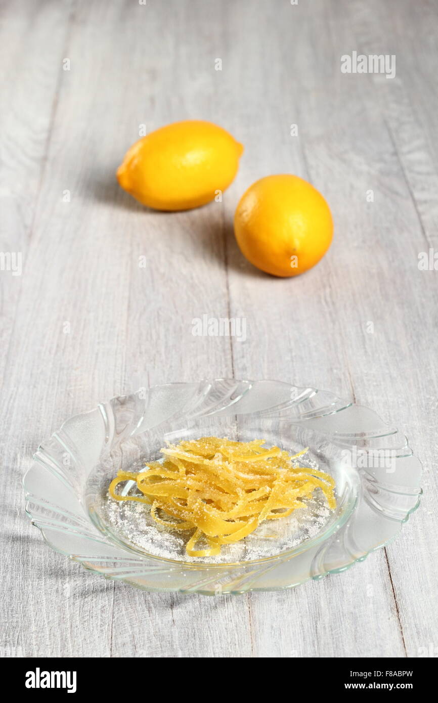 Candied Lemon Zest - Stock Image