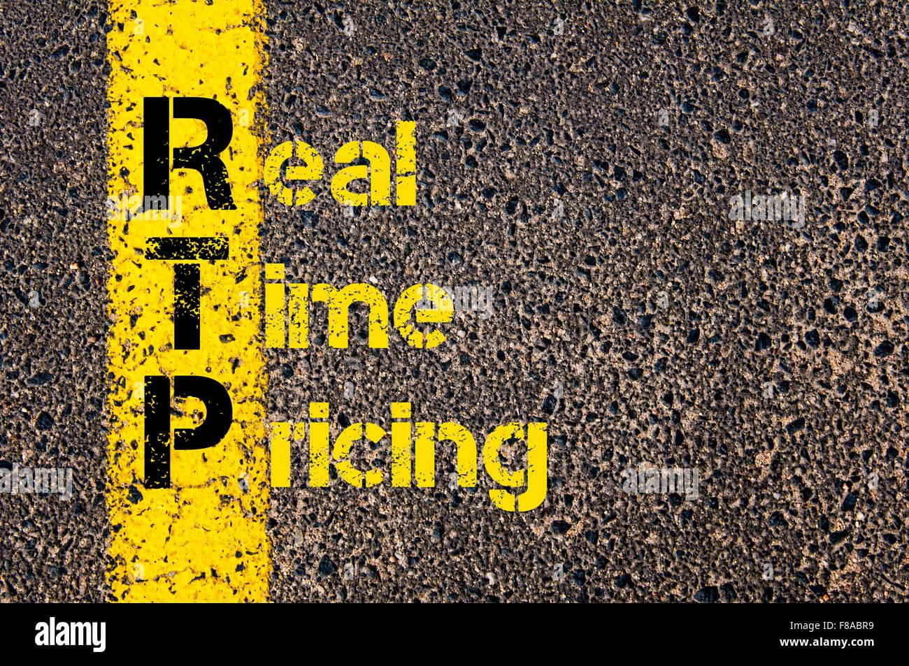 Concept image of Accounting Business Acronym xxxxxxxxxxxxxxxxx  written over road marking yellow paint line. Stock Photo
