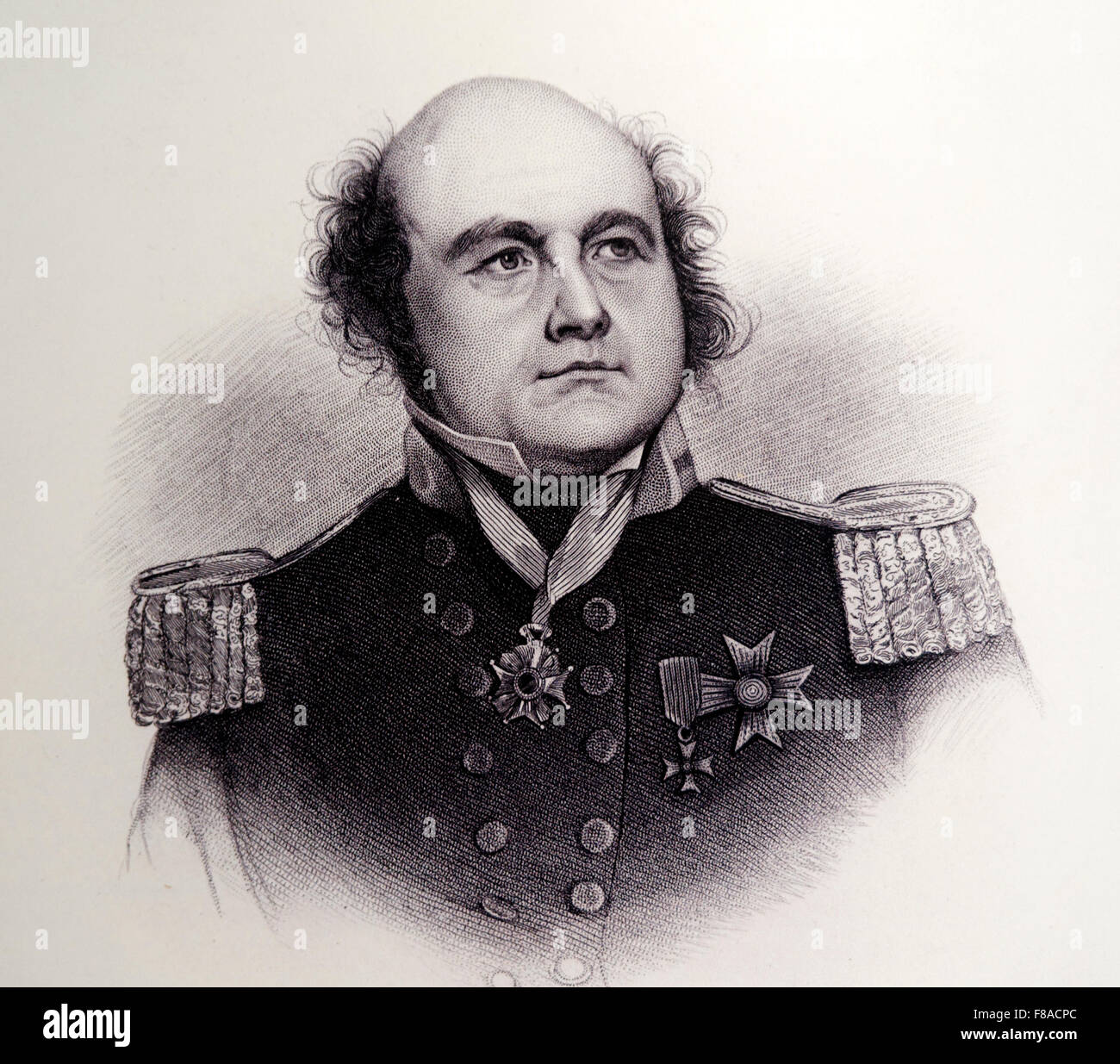 Portrait of British naval officer and explorer Sir John Franklin (1886-1847), Vancouver Maritime Museum, Vancouver, - Stock Image