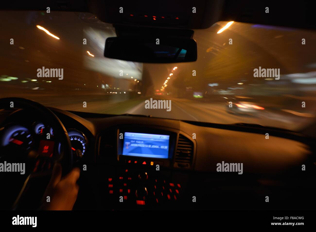 View Inside High Speed Car In T Street Stock Photos & View