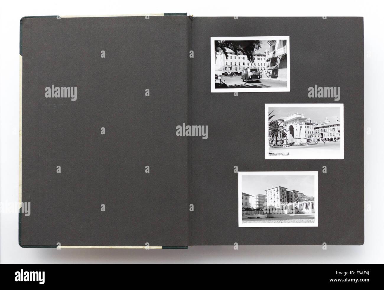 vintage photo album page