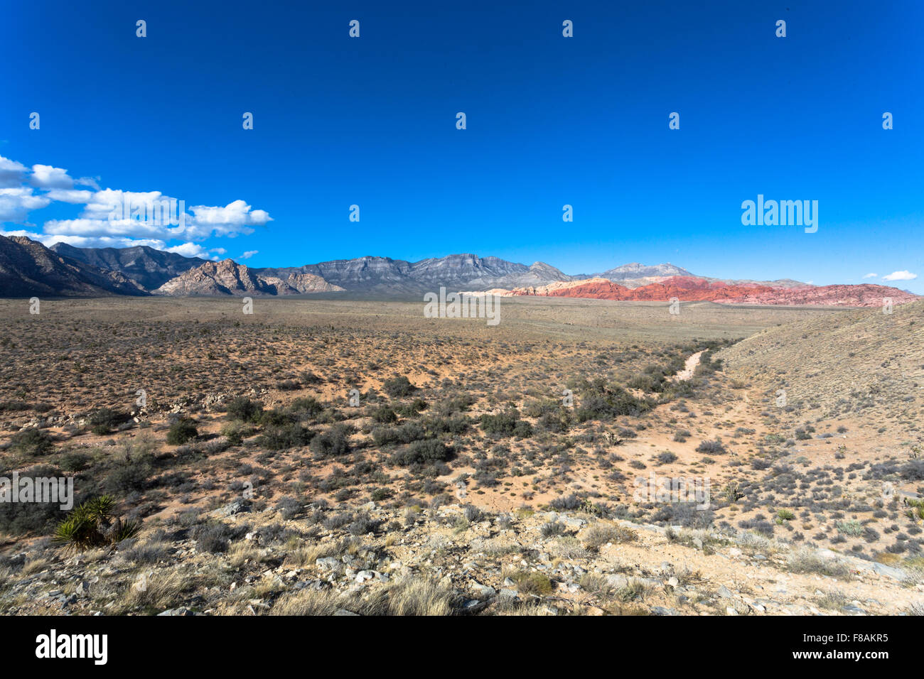 View of Red Rock Canyon outside of Las Vegas from the observation area - Clark County, NV - Stock Image
