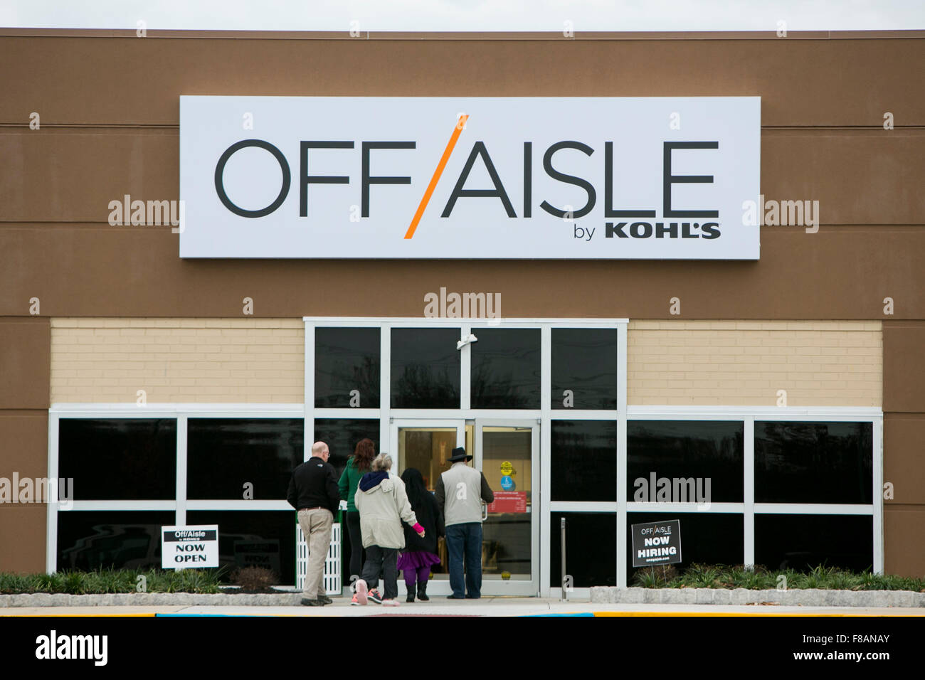 A logo sign outside of an Off-Aisle by Kohl's retail store in Cherry Hill, New Jersey on November 22, 2015. - Stock Image