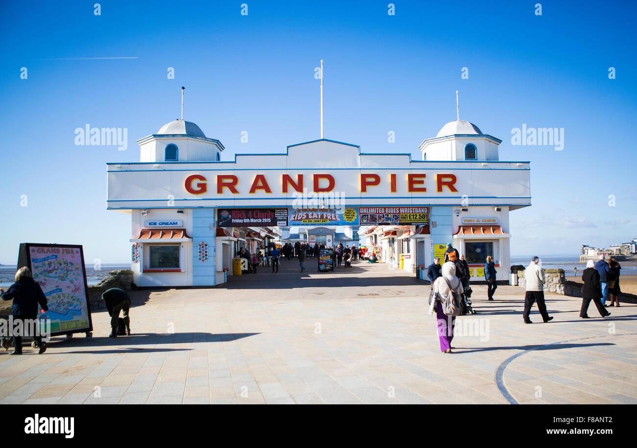 The Rebuilt Weston Super Mare Grand Pier - Stock Image