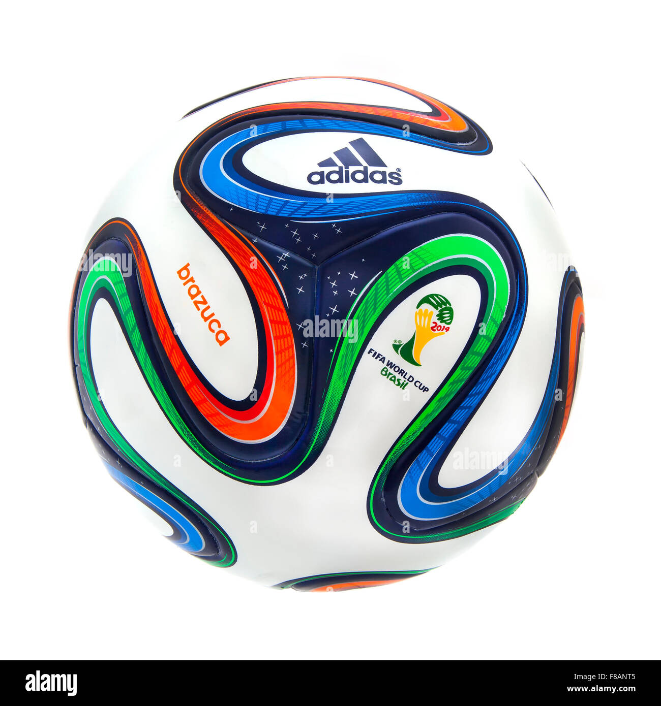 Adidas Brazuca World Cup 2014 Football, The Official Matchball for the 2014 World Cup - Stock Image