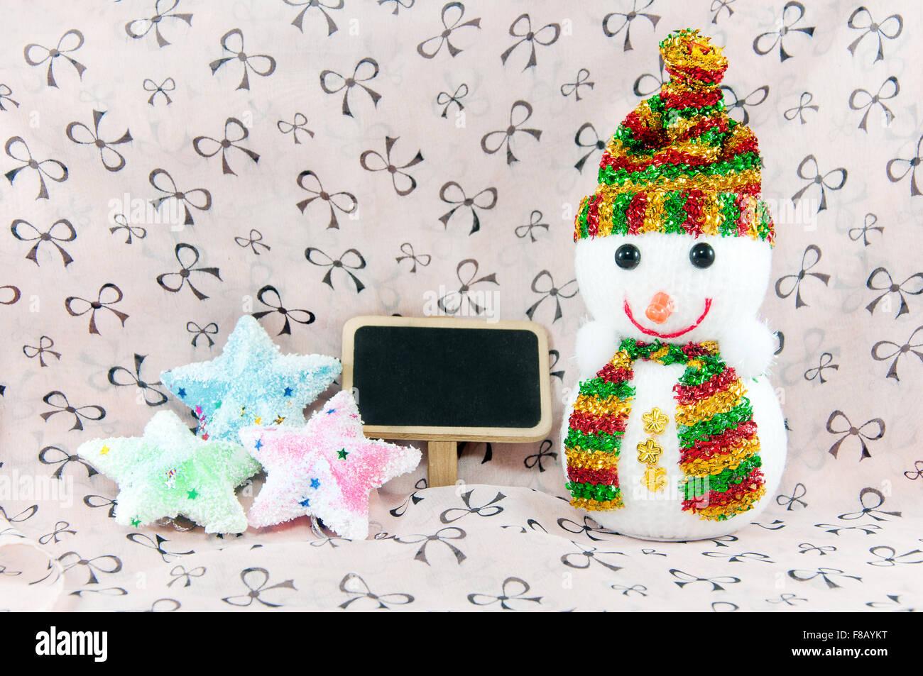Snowman on x-mas - Stock Image