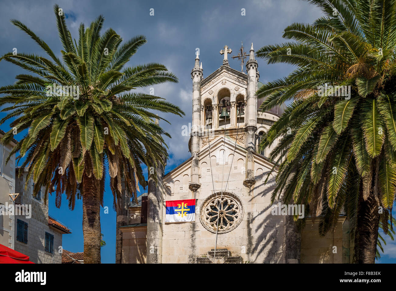 Old Montenegrin church in Herceg Novi town center Stock Photo