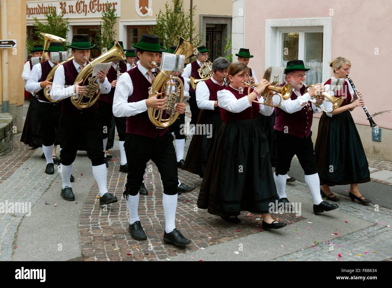 Österreich, Niederösterreich, Scheibbs, Fronleichnamsprozession - Stock Image