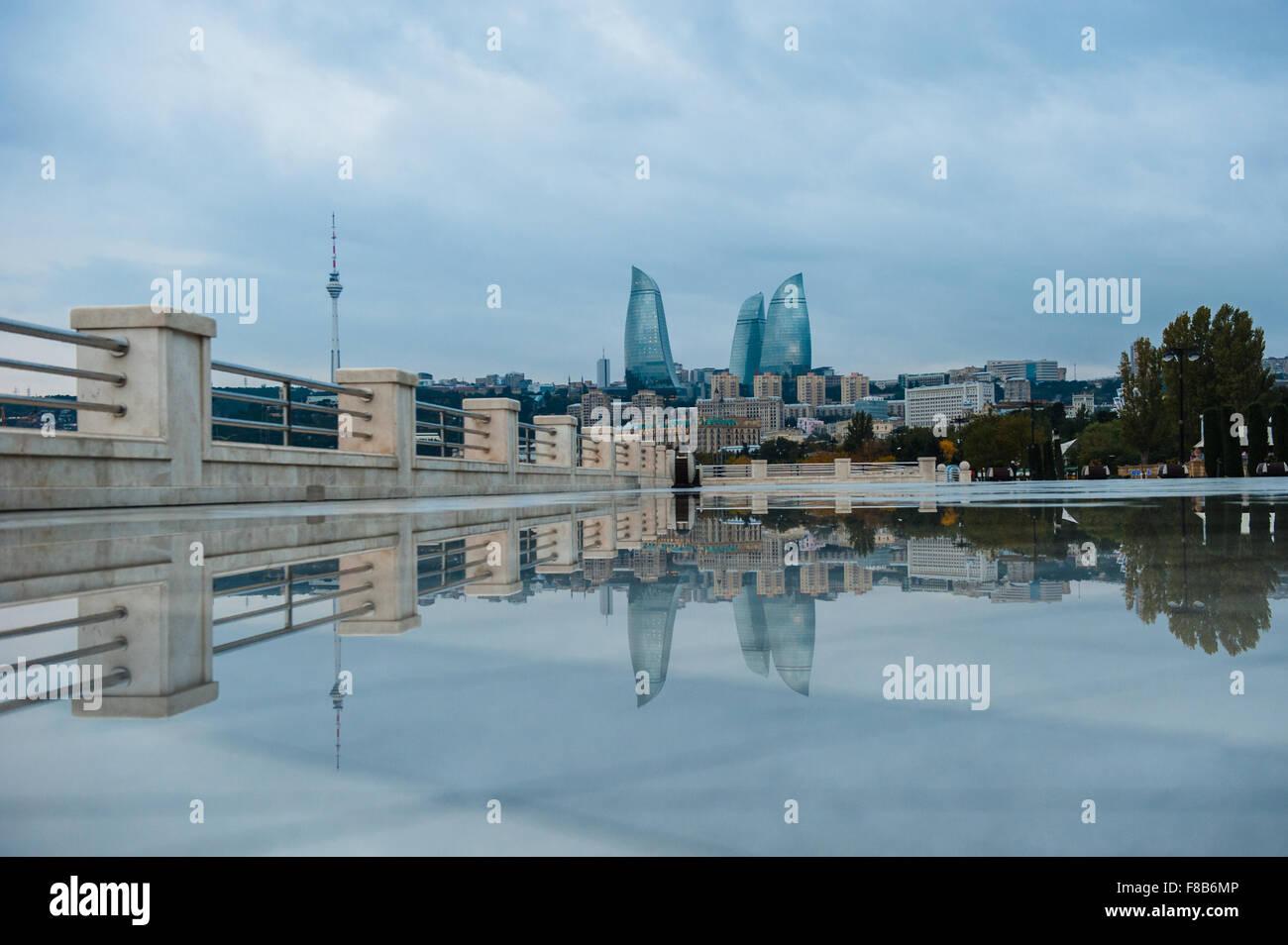 City view of the capital in Baku, Azerbaijan - Stock Image