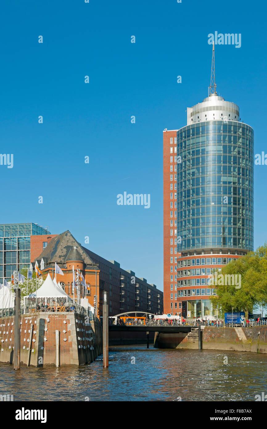 Deutschland, Hamburg, Hanseatic Trade Center am Kegrwiederspitze - Stock Image