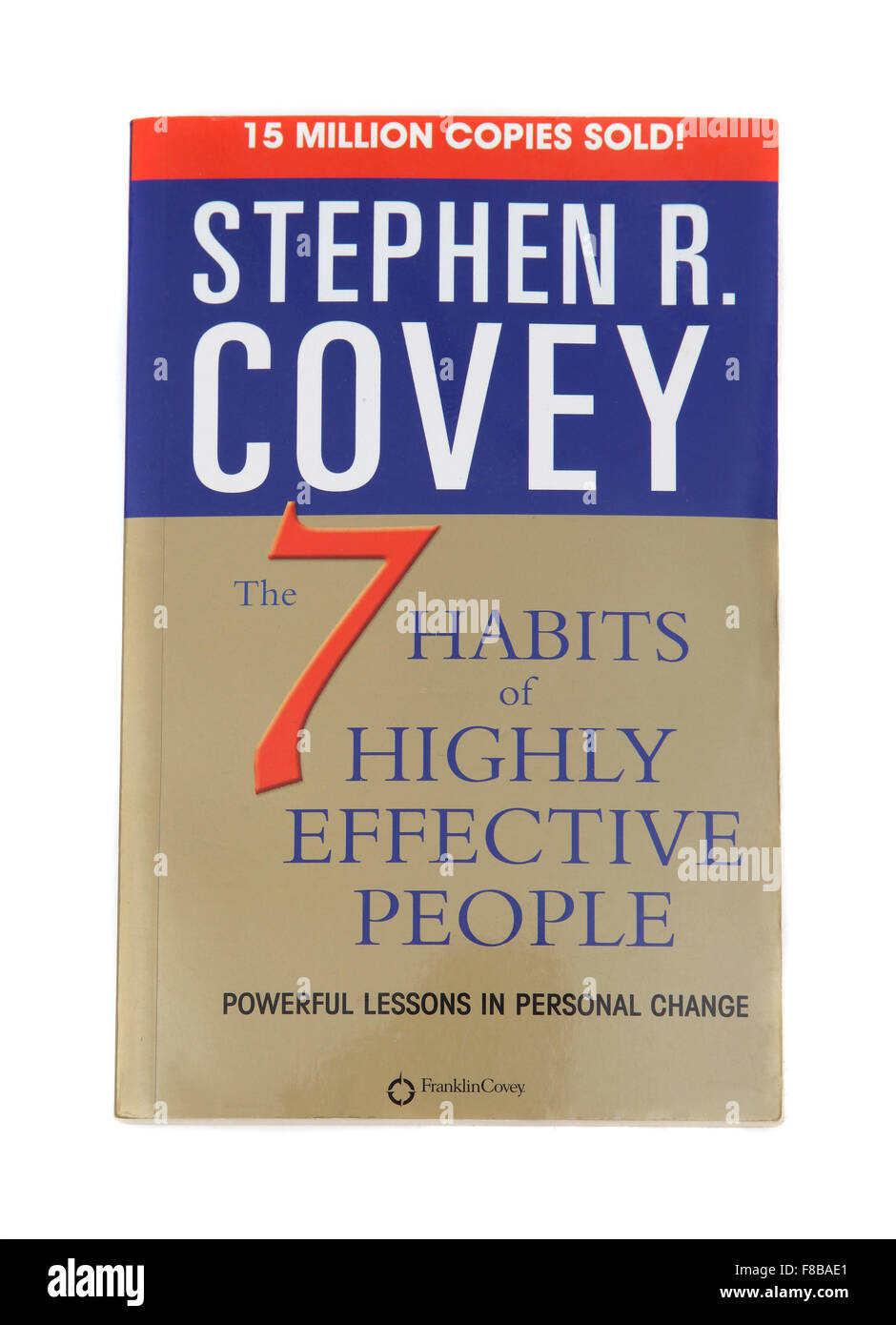 The book - The 7 Habits of Highly Effective People by Stephen Covey. - Stock Image