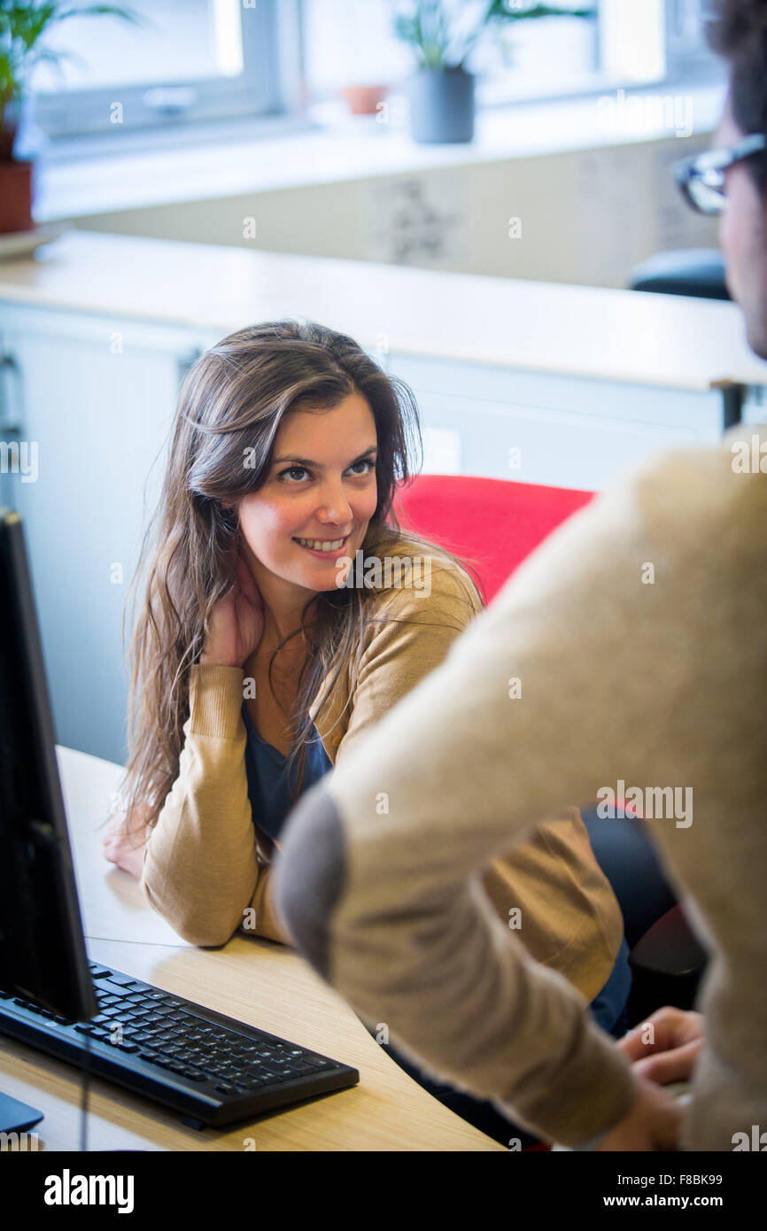 Seduction office. - Stock Image