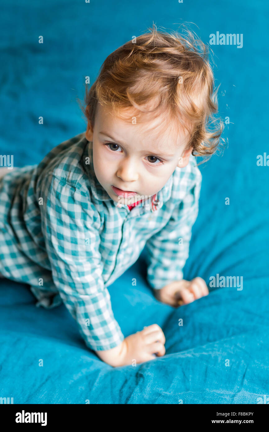2 year-old boy. - Stock Image