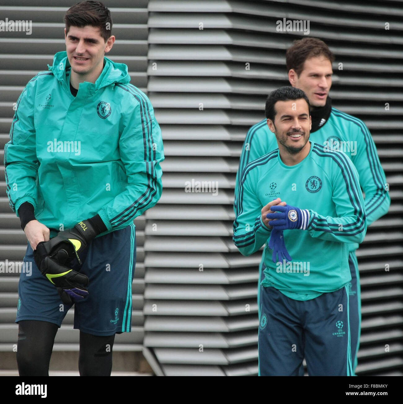 834150b73 Chelsea Football Club players train prior to the club s vital Champions  League clash with FC Porto December 2015