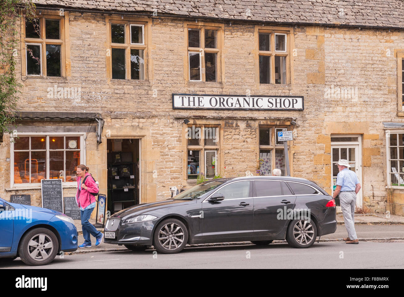 The Organic shop store at Stow-on-the-Wold , Cheltenham , Gloucestershire , England , Britain , Uk Stock Photo