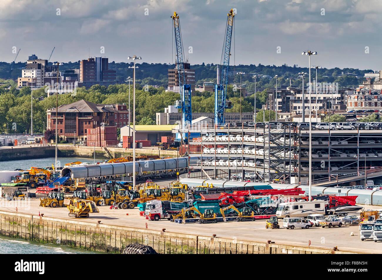Part Of The Dockyard Southampton UK - Stock Image