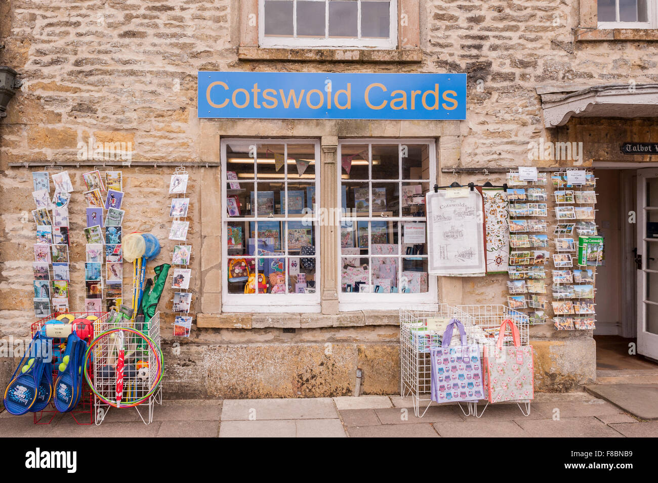 The Cotswold Cards card shop store at Stow-on-the-Wold , Cheltenham , Gloucestershire , England , Britain , Uk - Stock Image