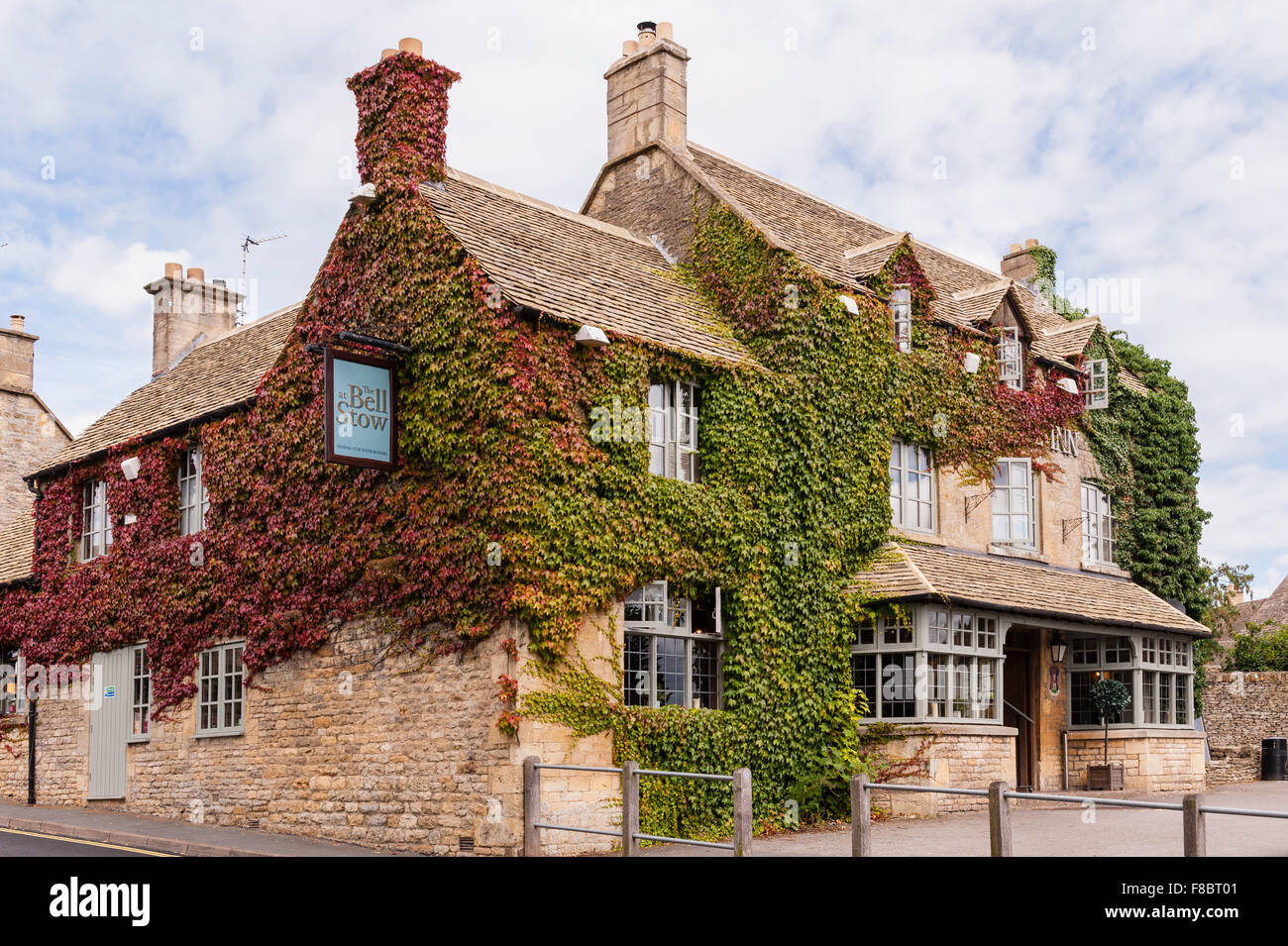 The Bell at Stow Hotel at Stow-on-the-Wold , Cheltenham , Gloucestershire , England , Britain , Uk Stock Photo