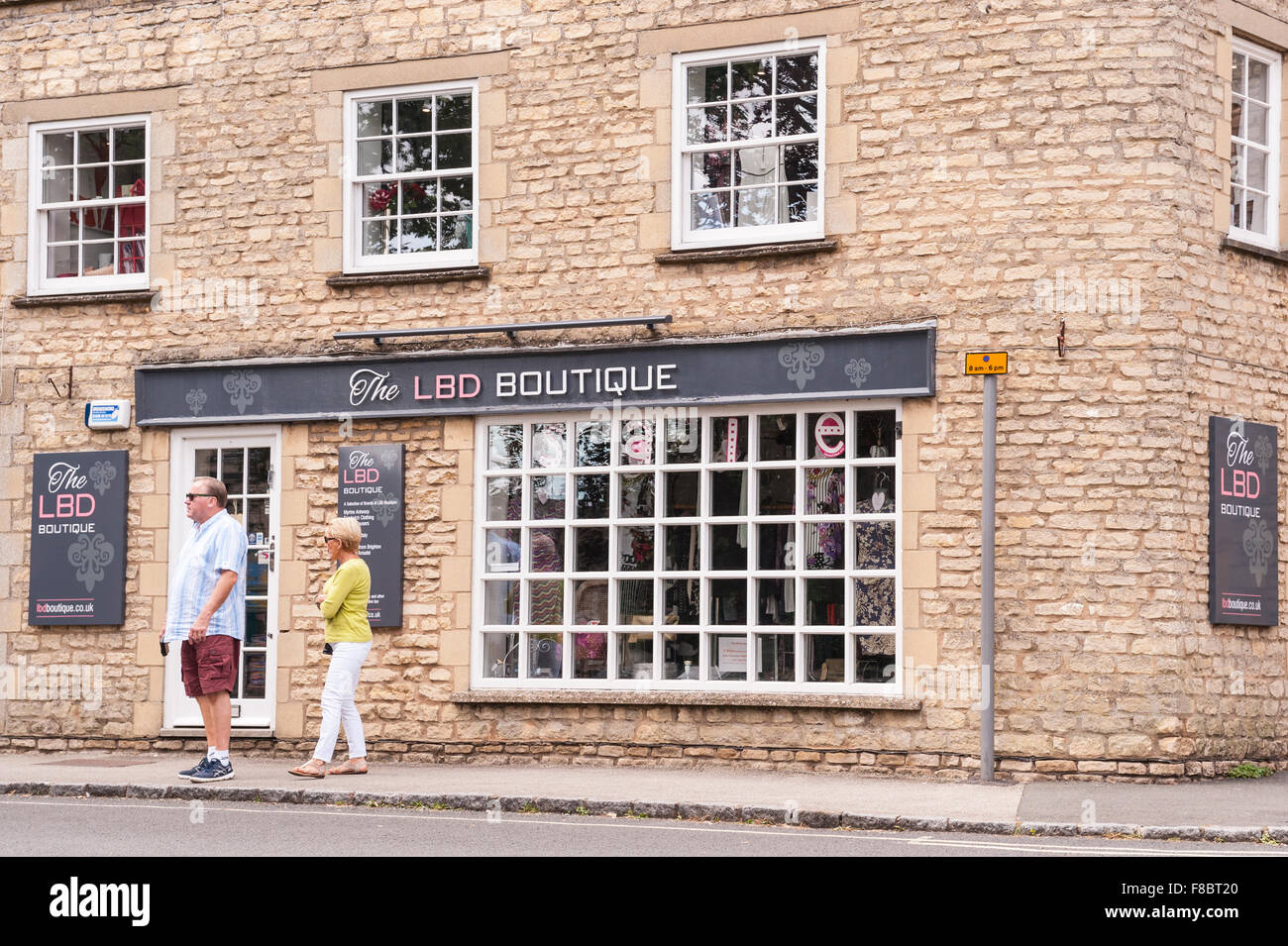 The LBD Boutique at Stow-on-the-Wold , Cheltenham , Gloucestershire , England , Britain , Uk Stock Photo