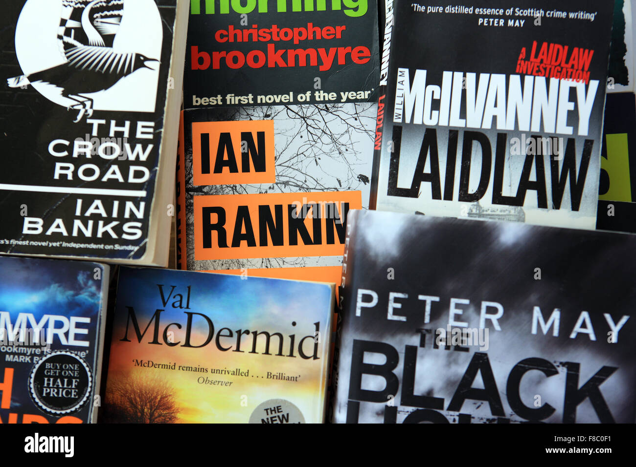 Books by various Scottish authors - Stock Image
