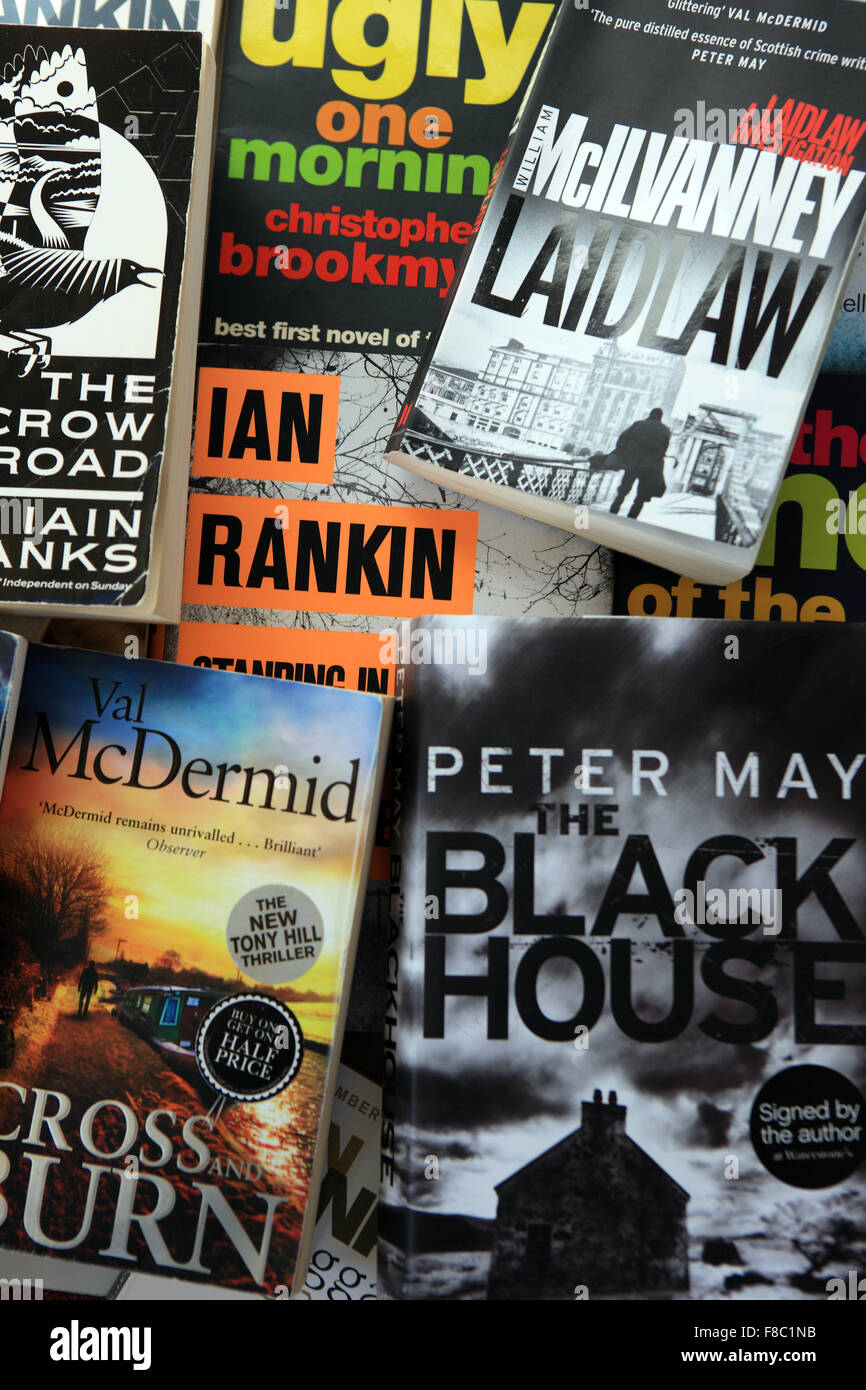 Books by Scottish authors - Stock Image