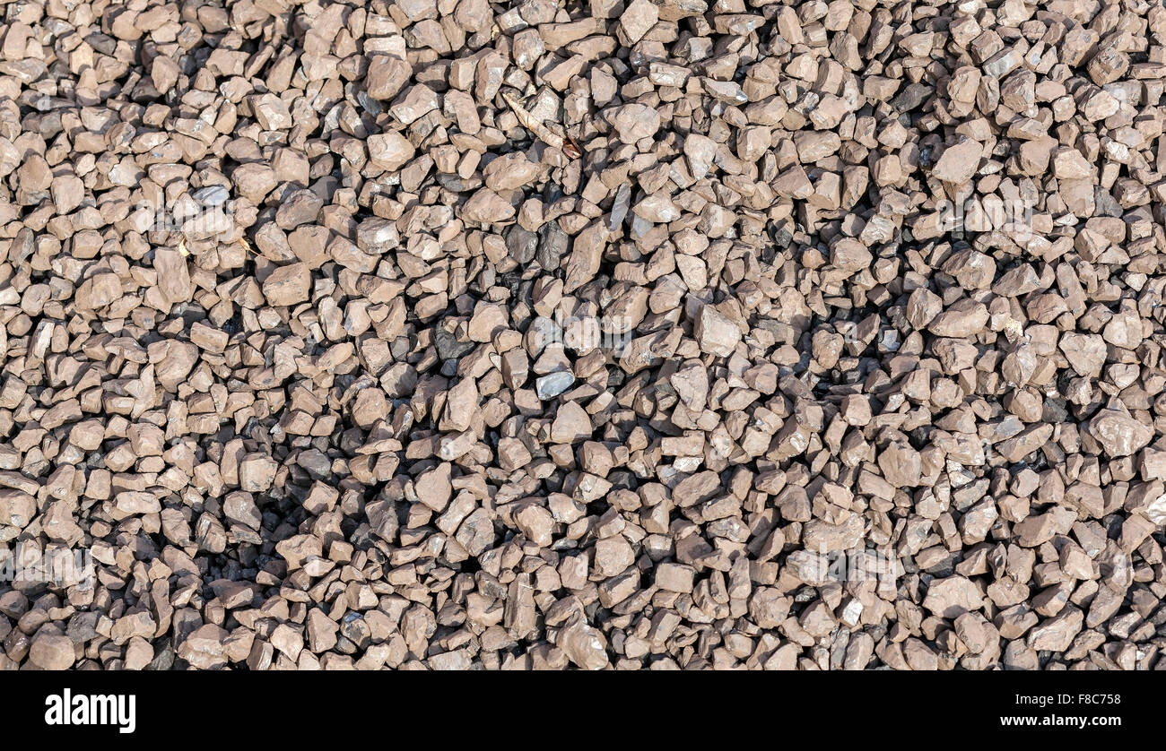 Pea coal, brown coal commonly used in boilers. Stock Photo