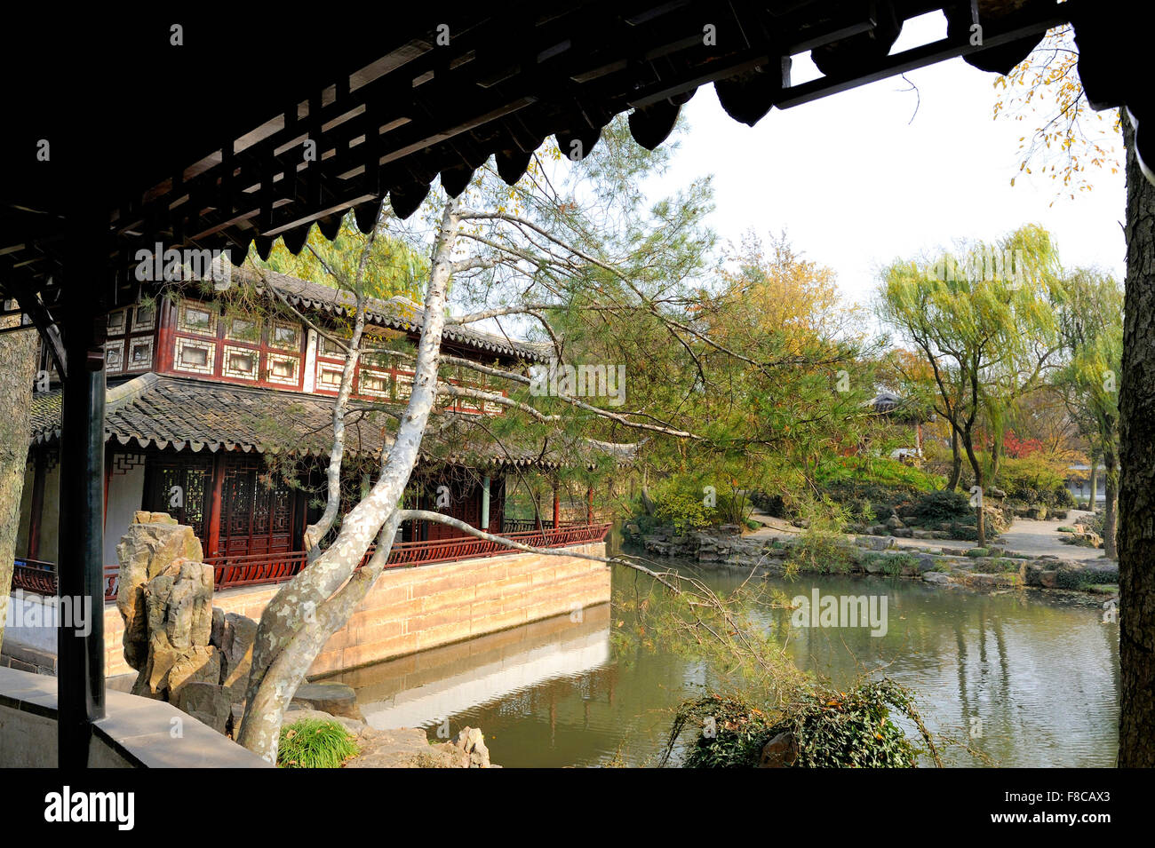 Garden of the Humble Administrator , Suzhou, China. This is an UNESCO World Heritage Site - Stock Image