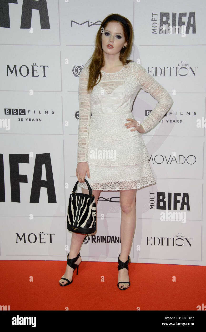 Ellie Bamber at the British Independent Film Awards 2015 in London - Stock Image