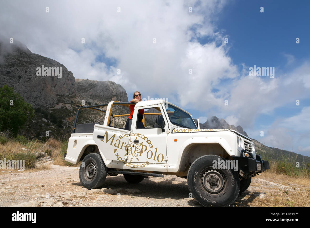 A jeep tour with Marco Polo expeditions in the mountains near Stock ...