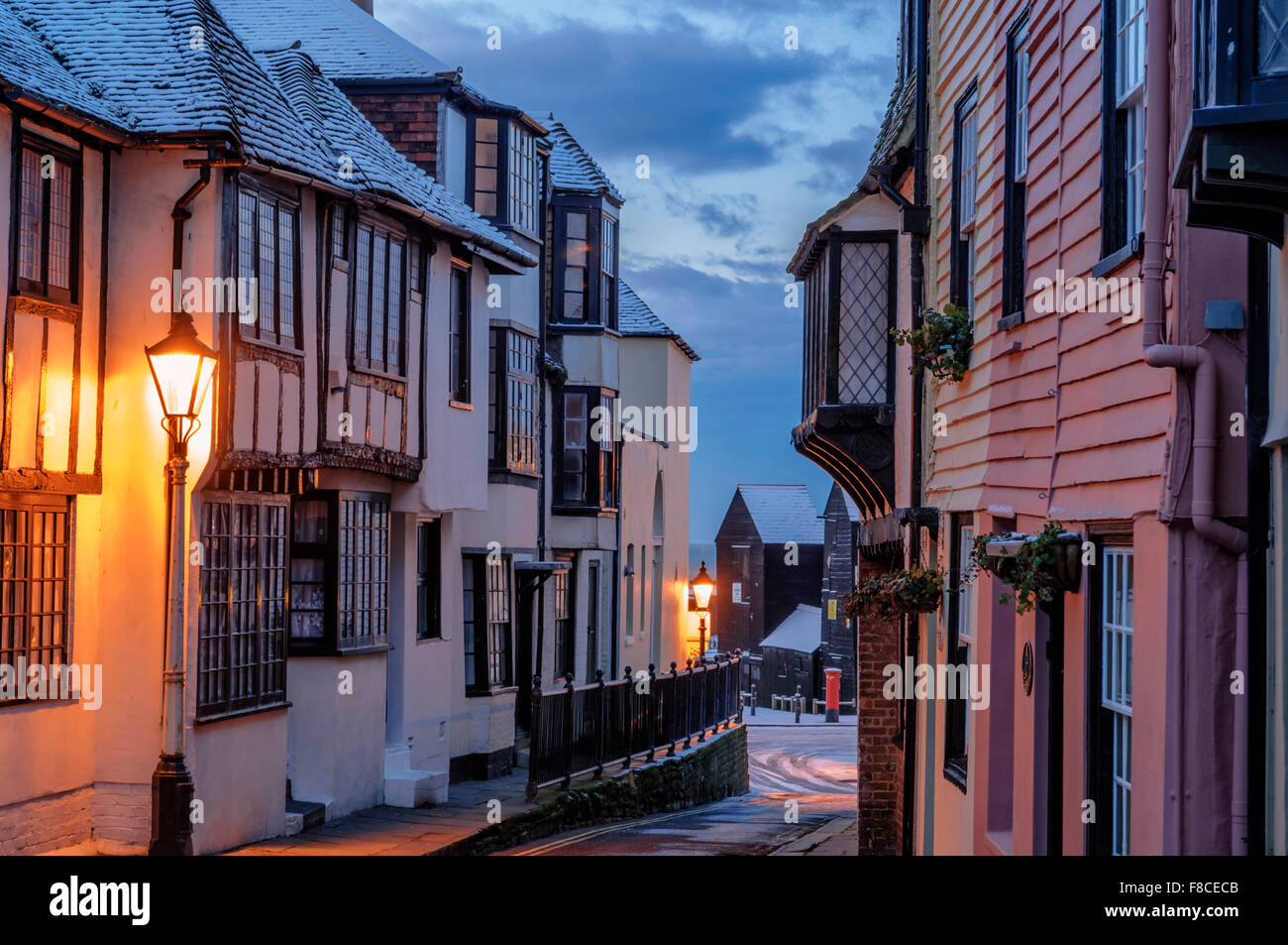 All Saints Street. Hastings Old Town, East Sussex, England. UK - Stock Image