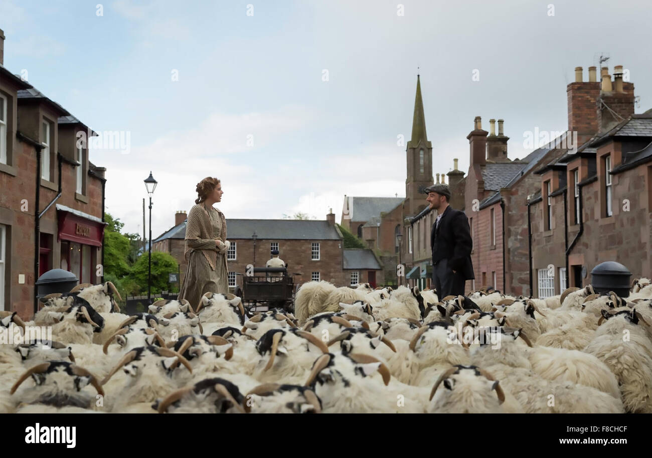 SUNSET SONG 2015 Hurricane Films production  with Agyness Deyn and Kevin Guthrie - Stock Image