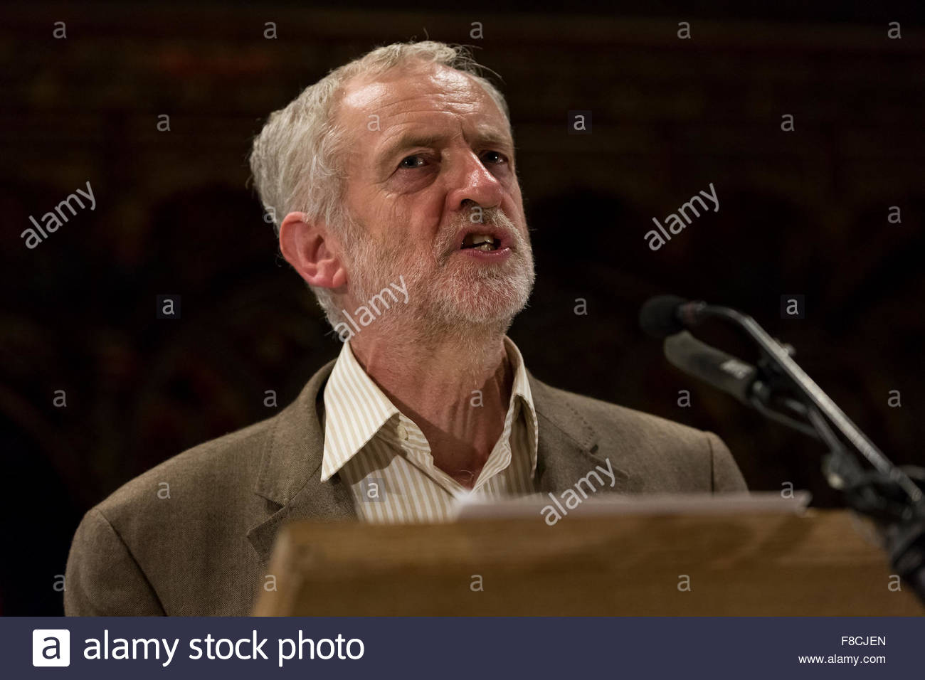 Manchester, 5 october 2015. Jeremy Corbyn leader labour, give a speech at the Cwu Event in Manchester. Peppe Iovino/alamy - Stock Image