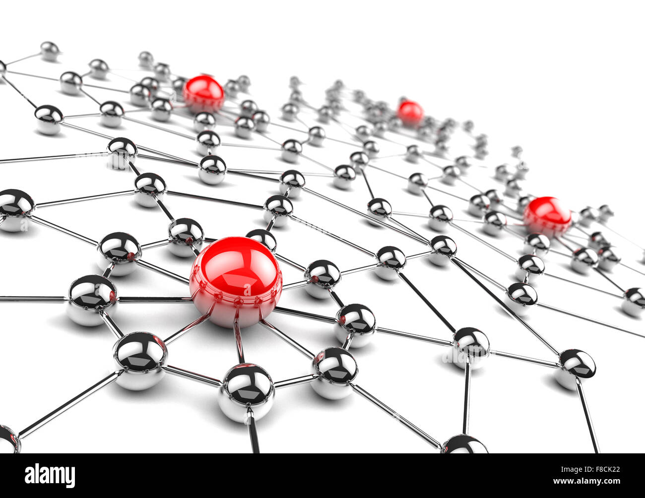 Internet and networking concept.3D net - Stock Image