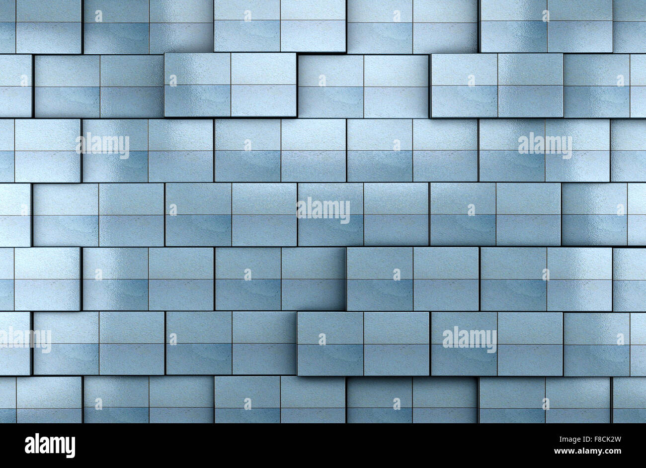3d blue tile wall background Stock Photo: 91247489 - Alamy