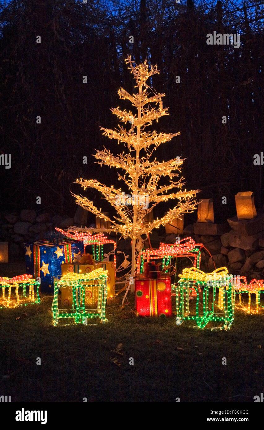 Traditional Christmas Lights.Faralitos And Luminarias Are Traditional Christmas Lights