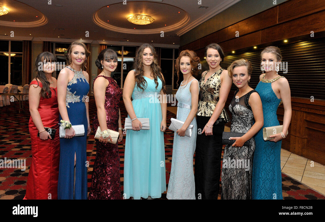 Teenage Irish Girls In Evening Dress At College Formal