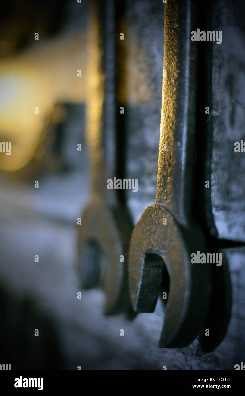 old spanners - Stock Image