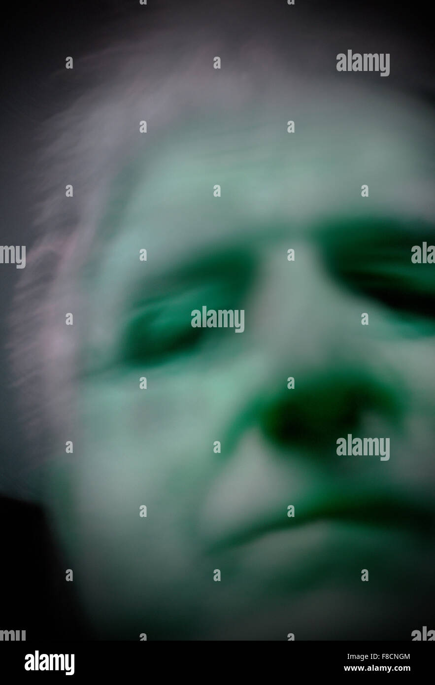 male head - Stock Image